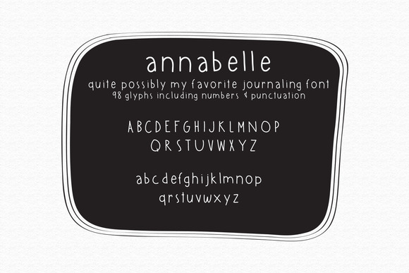 Annabelle Hand Lettered Typeface