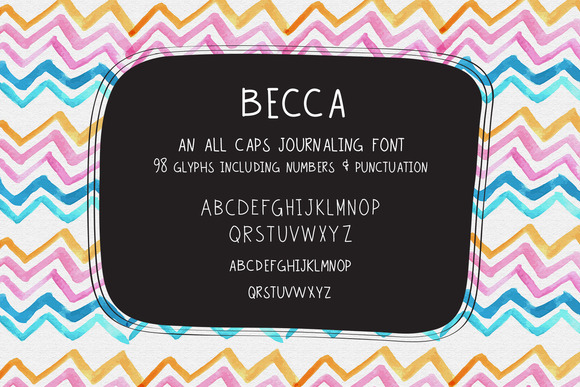 Becca Hand Lettered Typeface