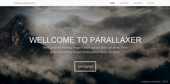 PARALLAXER Bootstrap 3.0. responsive ~ Website Templates  Free Download