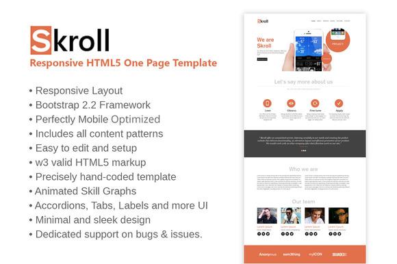 SKROLL Responsive HTML5 Template
