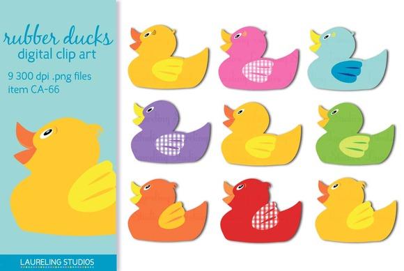 Rubber Duck Illustration Rubber Duck Clip Art