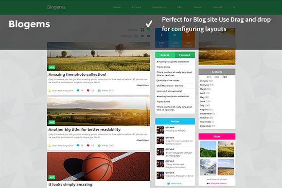 BloGems WordPress Blogs Site Theme