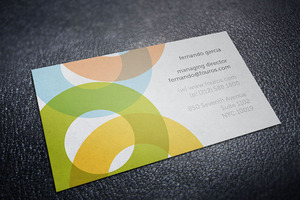 Four Os Round Service Business Card