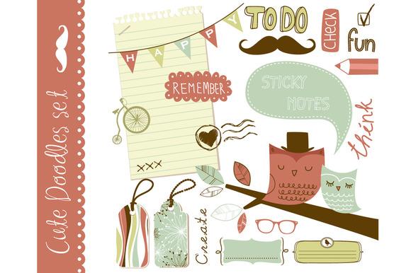 Cute clip art scrapbooking elements ~ Illustrations on ...