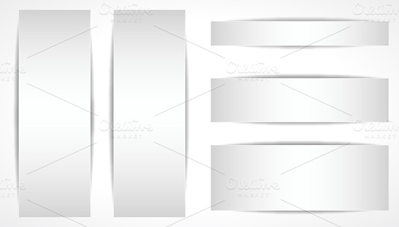 Blank Web Banners Vectors