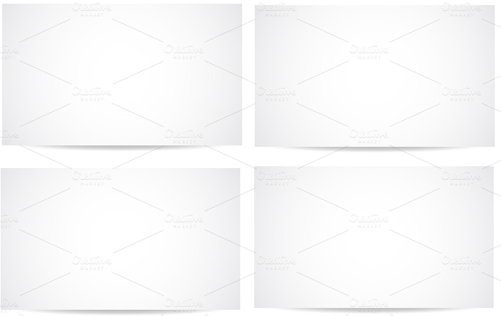 Black And White Banner Vector Blank White Banners Vector Set