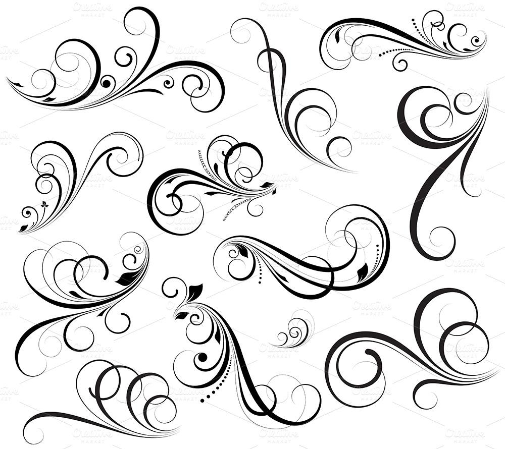 swirls vectors   illustrations on creative market swirl vector background swirl vector free download