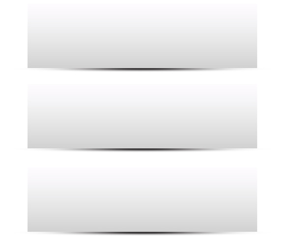 Blank Banner Box With Shadow Vectors