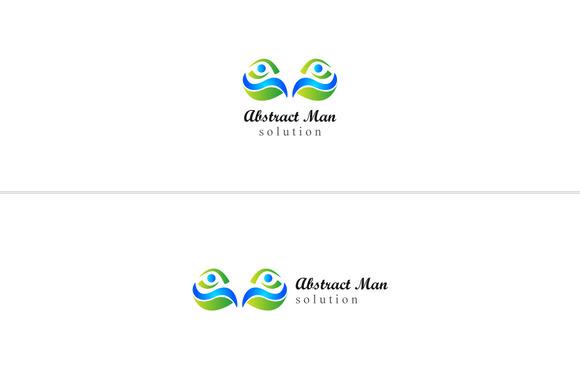 Abstract Man Logo