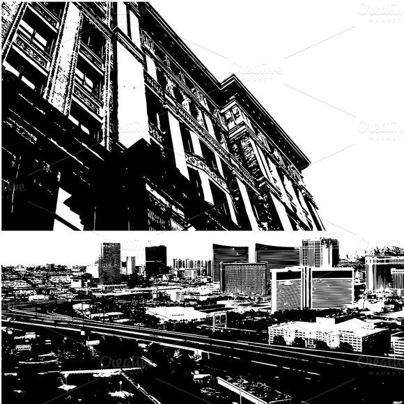 Urban Aerial Buildings Vectors