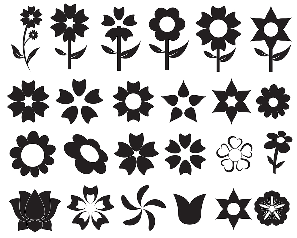 Flower Icon Flowers-clipart-vectors-o jpg     Real Flower Icons