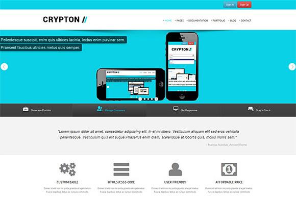 Crypton Beautiful Bootstrap Theme