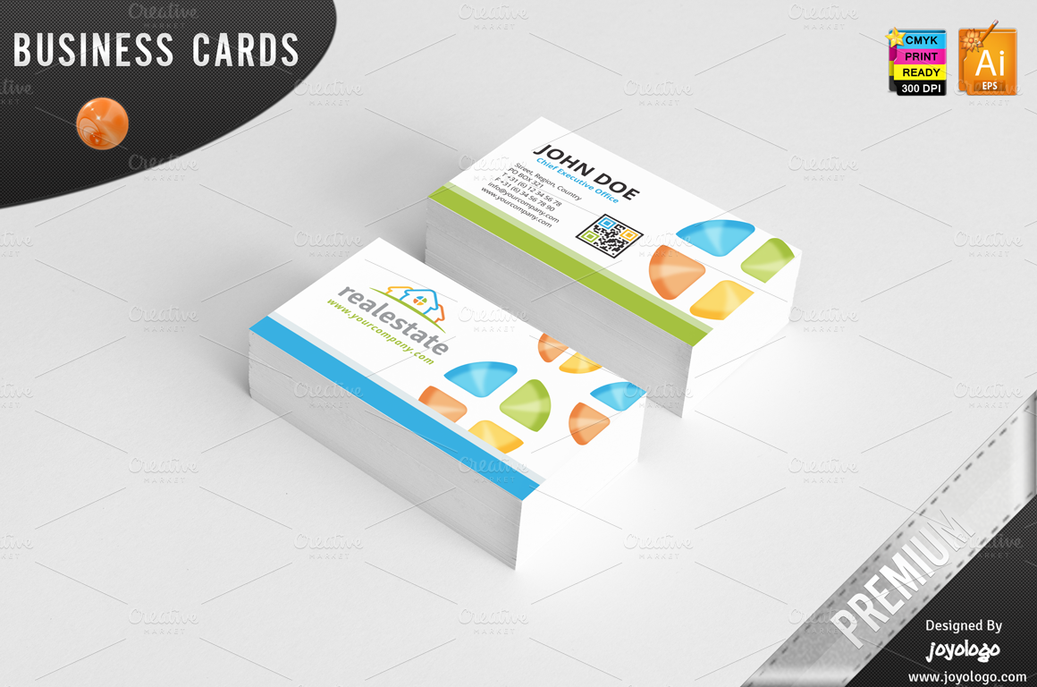 3d Real Estate Business Cards