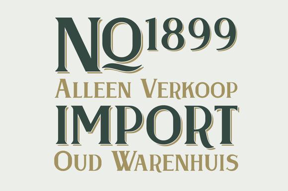 Oud Warenhuis Typeface