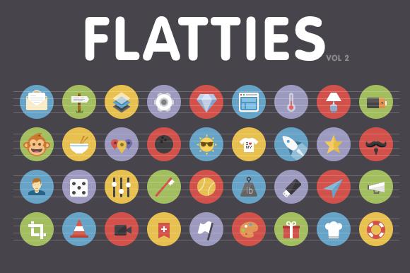 Flatties Vol 2 Flat Style Icon Set