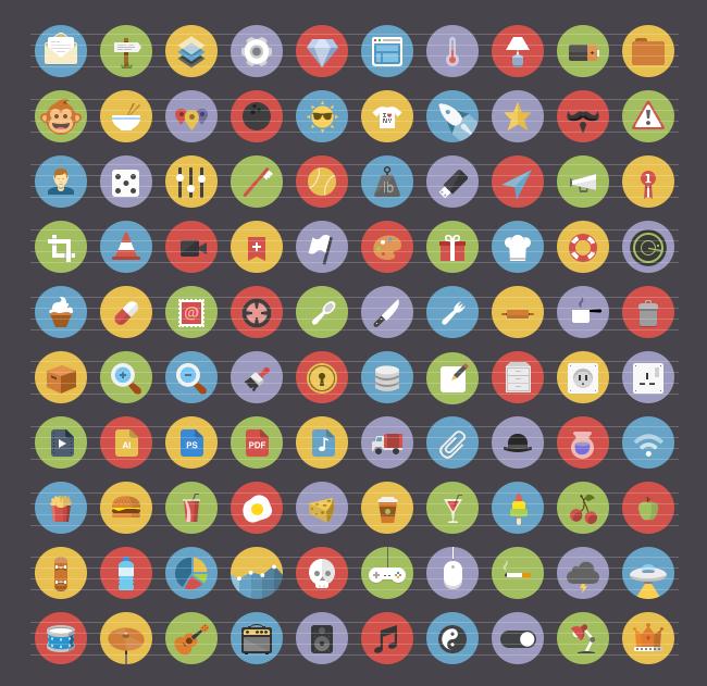 Flatties Vol 2 Flat Style Icon Set Icons On Creative