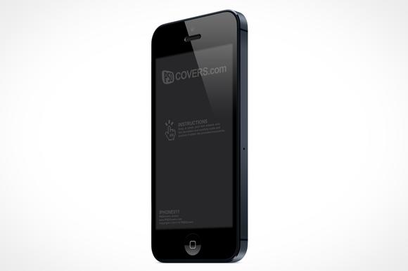 IPhone 5 Left Quarter View Mock-Up