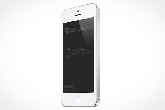 White IPhone 5 Left Quarter Mock-Up