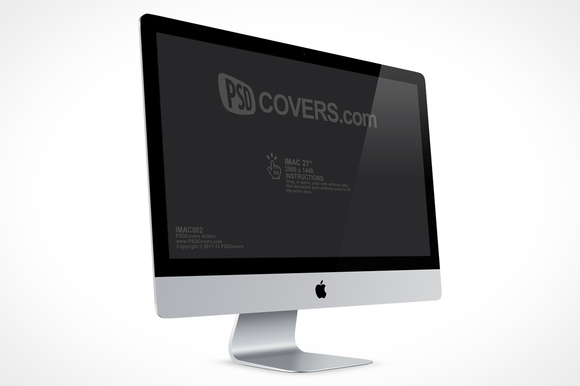 IMac 27in Right Quarter View Mock-Up