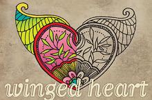 Vector & Bitmap Winged Heart