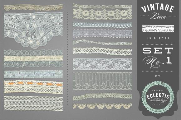 Vintage Lace Embellishments Set 1