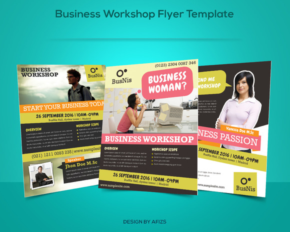 business workshop promotion flyer flyer templates on creative market. Black Bedroom Furniture Sets. Home Design Ideas