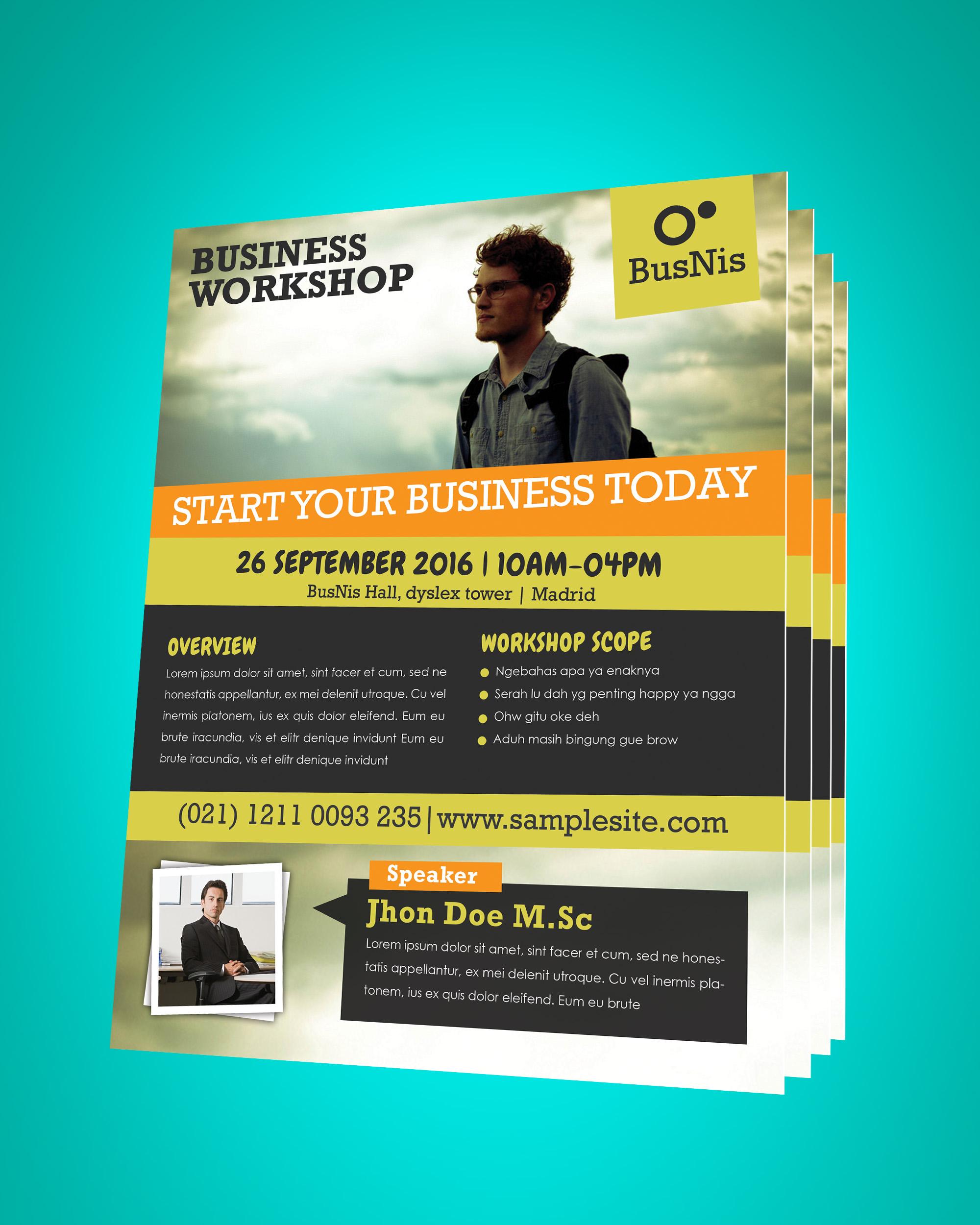 business workshop promotion flyer