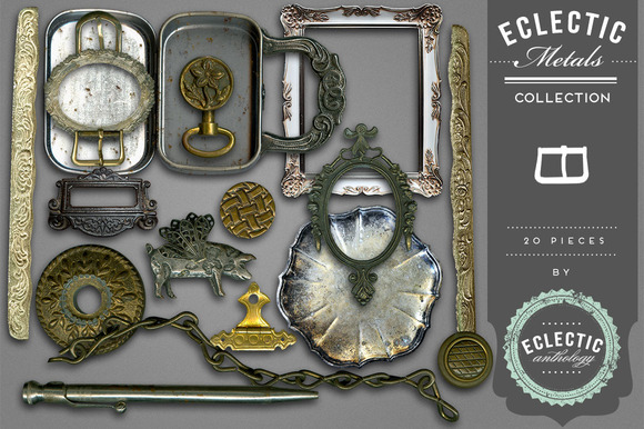 Eclectic Metals Embellishments