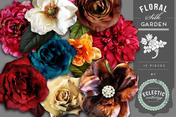 Silk Flower Garden Embellishments
