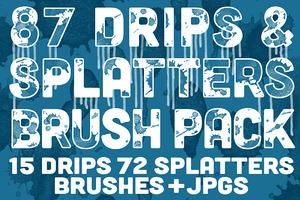 Drips & Splatters Brush Pack