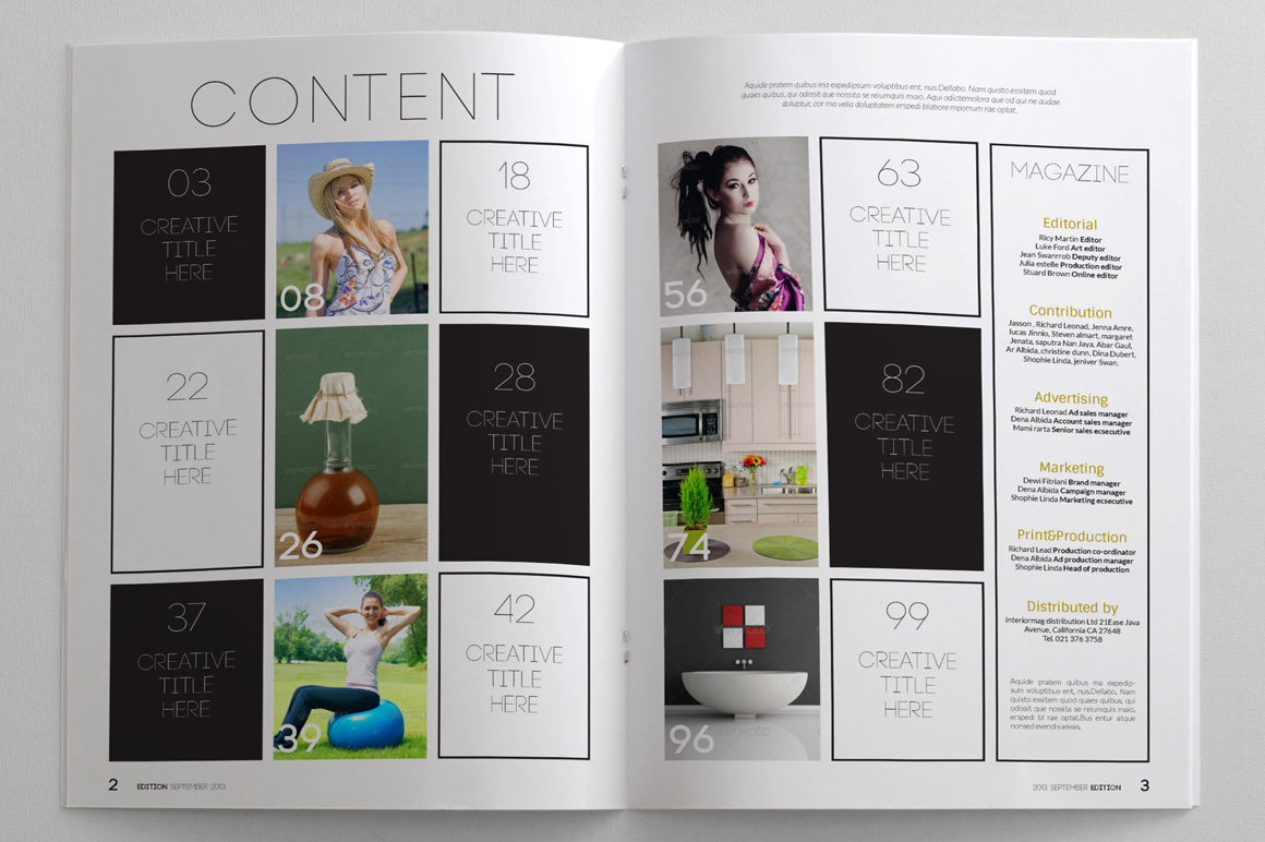 simply magazine template magazine templates on creative market. Black Bedroom Furniture Sets. Home Design Ideas