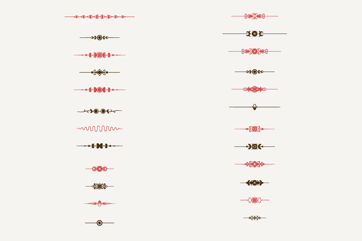 Decorative Text Dividers N°1 ~ Illustrations on Creative