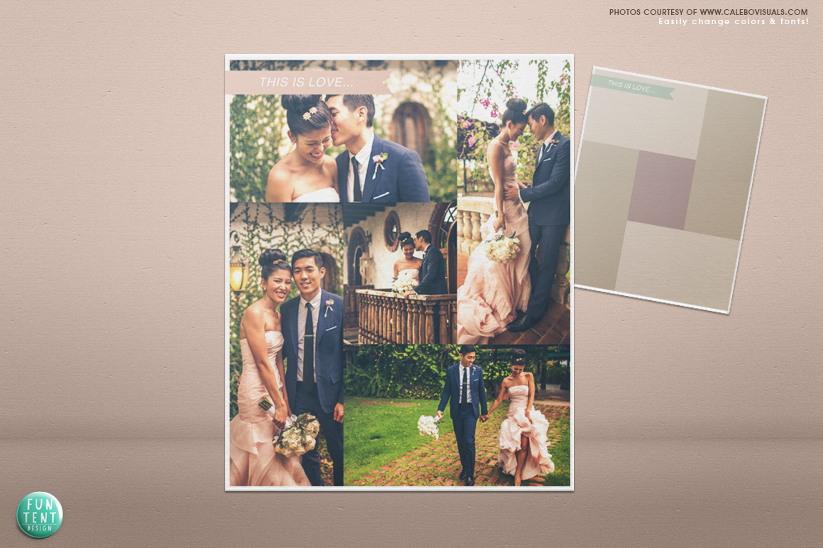 wedding blog board collage template