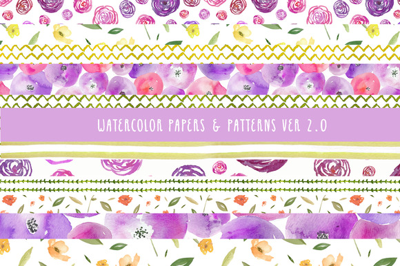 Watercolor Patterns 2