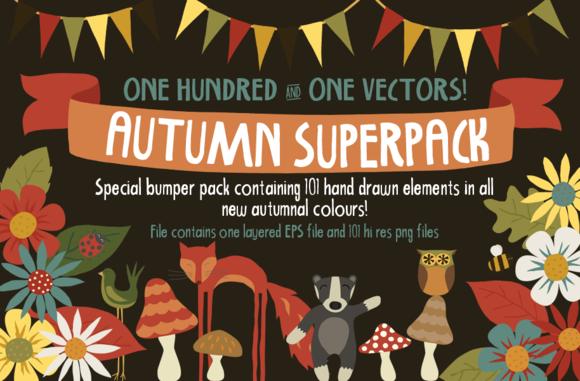 Autumn Superpack 101 Illustrations