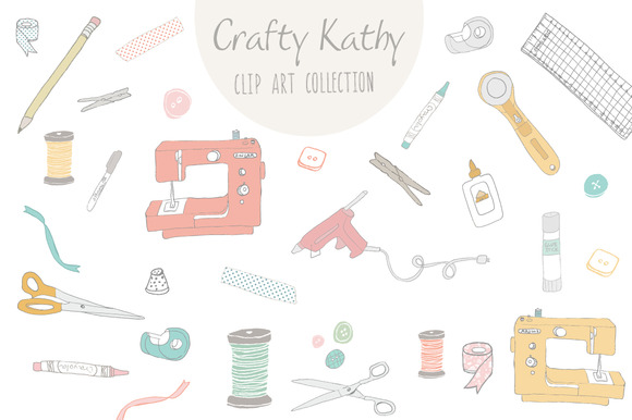 Crafty Kathy Clip Art Vector