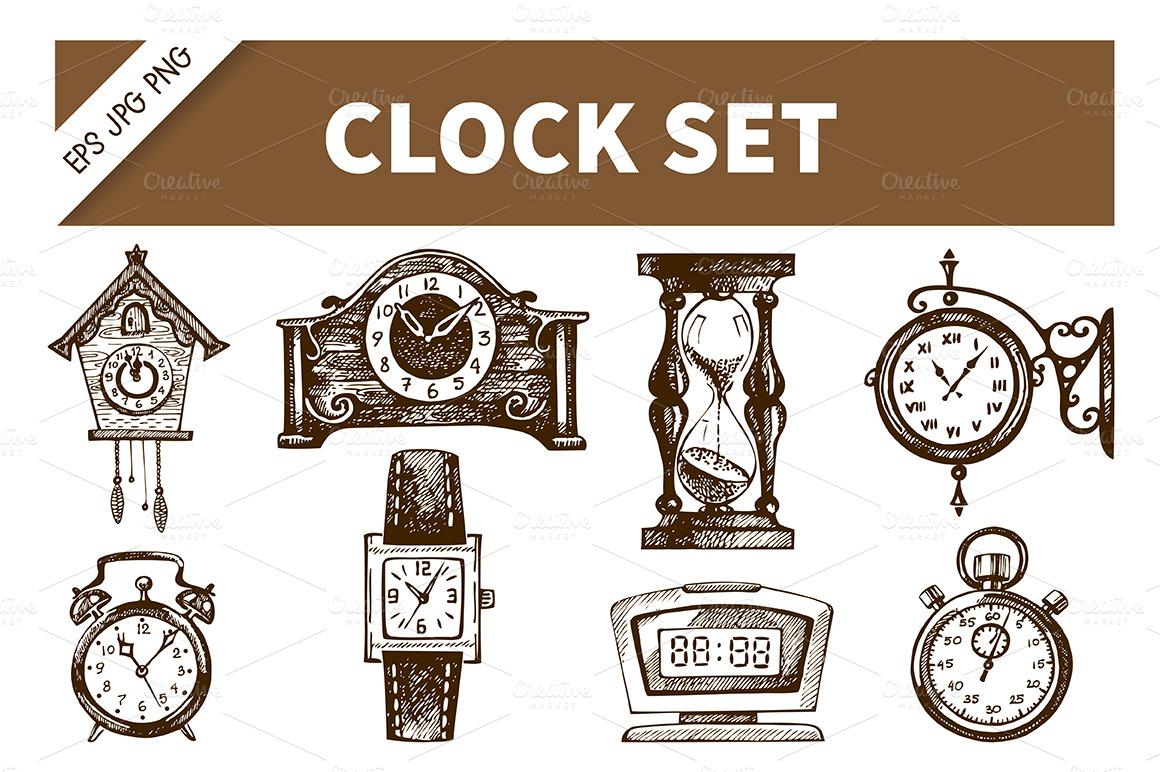 Clock Watch Drawing Clock Watch Hand Drawn