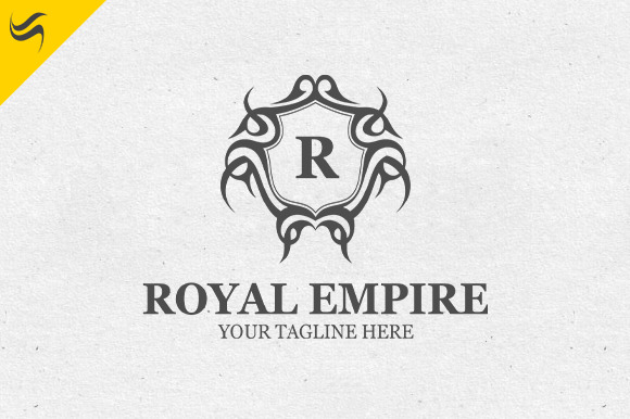 royal empire logo template logo templates on creative market. Black Bedroom Furniture Sets. Home Design Ideas