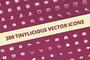 300 Tinylicious Vector Icon-Graphicriver中文最全的素材分享平台