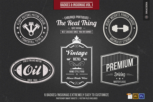 Badges and Insignia's Vol.1 - Objects