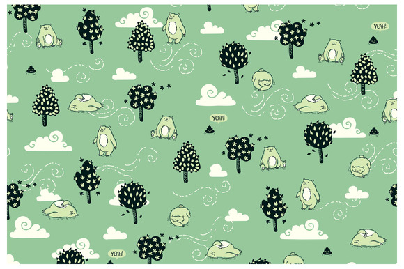 Does a bear.... elements and pattern - Illustrations