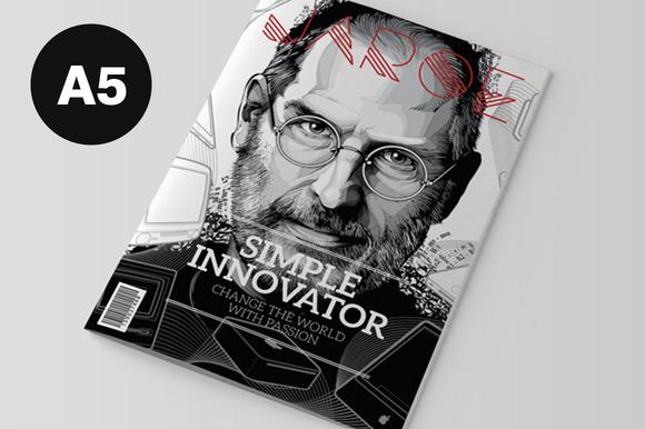 a5 indesign magazine template magazine templates on creative market. Black Bedroom Furniture Sets. Home Design Ideas