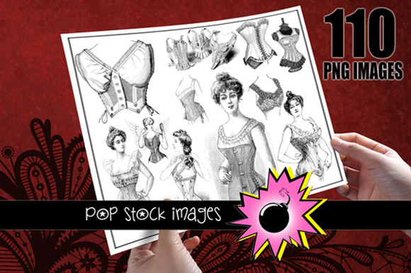 Vintage French Corset Images