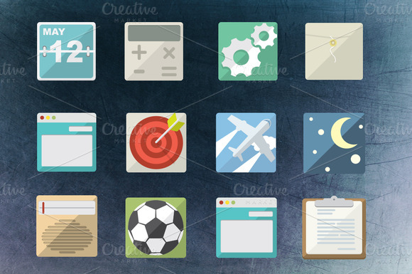 36 Flat Icons Pack