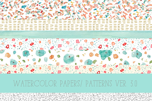 Watercolor Patterns 3.0 - Illustrations