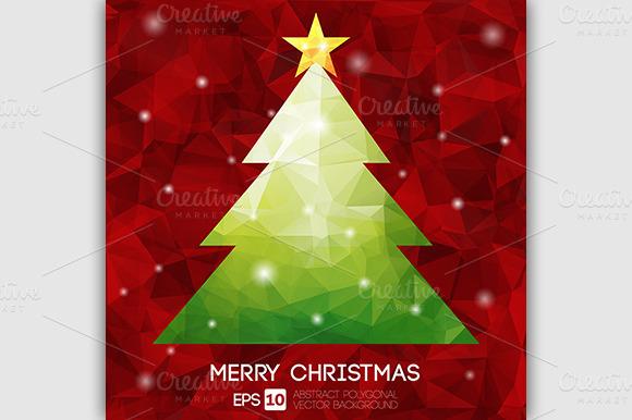 Christmas Tree Polygonal Design