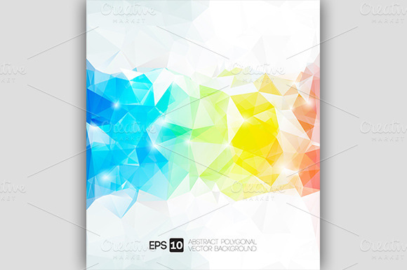 abstract polygonal colorful background - photo #35