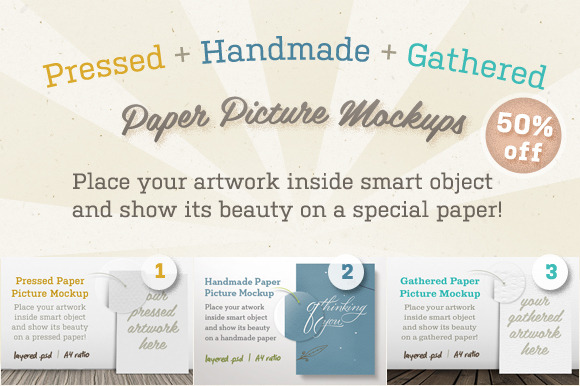 Special Paper Picture Mockups