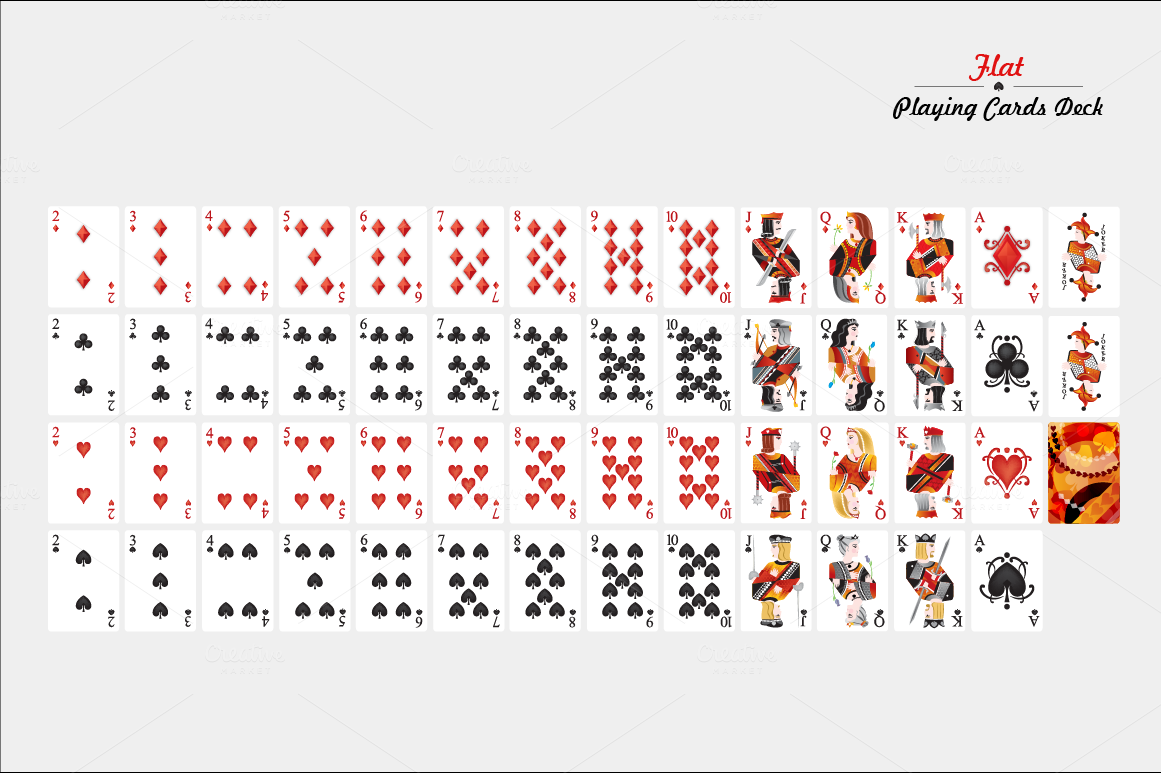 Flat Playing Cards Deck Illustrations On Creative Market