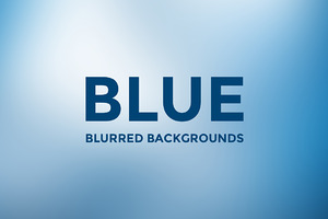 12 Blue Blurred Background
